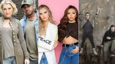 S Club, Little Mix and 5ive are all performing in Norfolk in 2020 Credit: L-R Supplied by OPEN Norwi