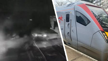CCTV footage from the cab of a Greater Anglia train shows the near-miss at Thorpe End level crossing