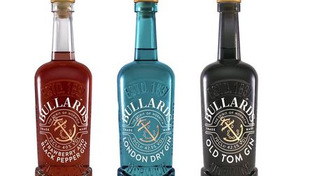 The gin made by Bullards in the distinctive glass bottles. Pic: Bullards/Archant