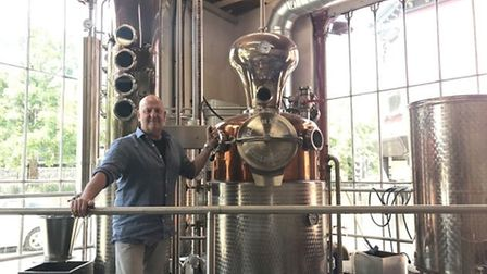 Russell Evans at the distillery in Cattle Market Street, Norwich. Pic: Archant