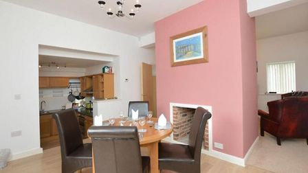 A two bedroom detached house with a hot tub has gone on the market in Norwich. Photo: Gilson Bailey