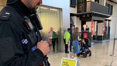 Police at Chapelfield shopping centre as part of Operation Servator. PIC: Norwich Police Twitter.
