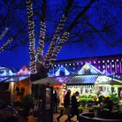 The Christmas lights at Norwich Market and City Hall. Picture: DENISE BRADLEY