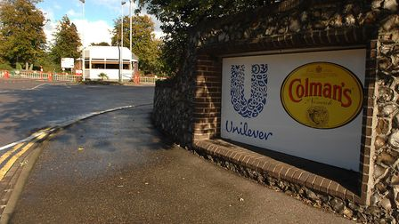 The entrance to Colman's in Norwich. Unilever and Britvic have now left the city. Photo: Denise Brad
