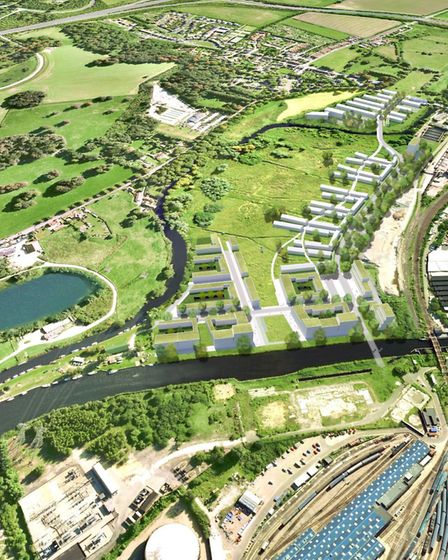 Plans for the scheme on the Deal Ground and May Gurney sites. Pictured: Artist impression