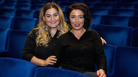 L-R Beth Lewis and Lauren Nevill who are bringing The Mamma Mia Spectacular to Gorleston-on-Sea whic