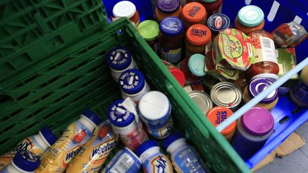 Extra food can be donated at food banks at Christmas time. Picture: PA Archive/PA Images