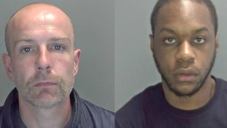 Kylann Grannum (right) and Shaun Byers (left) pleaded guilty to three counts of conspiracy to supply