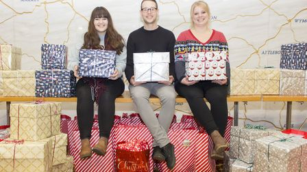 More than 100 young people, who will be spending Christmas in care will be receiving a bag of gifts