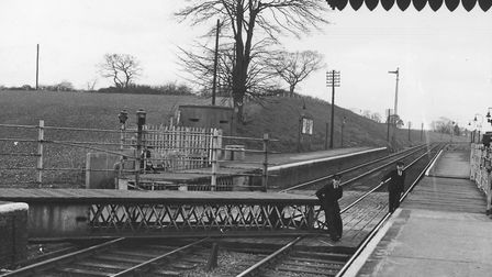 Halesworth train station's movable platforms, dated 1956. PHOTO: Archant Archive