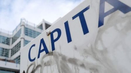 Outside Capita's offices in Bournemouth, Dorset. Picture: Andrew Matthews/PA Wire