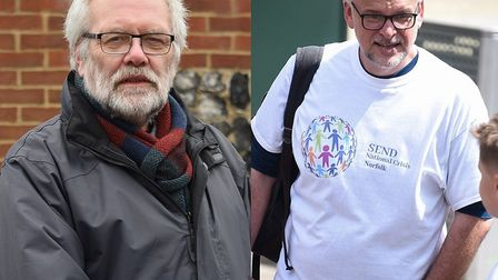 Norfolk County Council's Labour group leader Steve Morphew and Liberal Democrat group leader Ex Maxf
