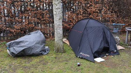 Rough slepping in rural Norfolk often includes those sleeping in cars, tents and outbuildings. Pictu