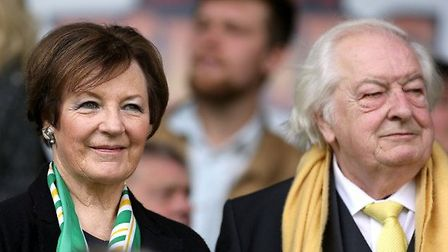 Delia Smith and husband Michael Wynn-Jones. What did Delia offer to pay for? Picture: Archant