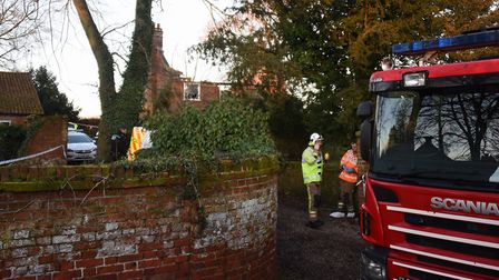 The house at The Moor at Reepham after the fire. Picture: DENISE BRADLEY