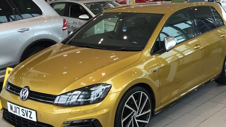 The gold VW Golf was taken from Holly Close, Taverham. Picture: Broadland Police