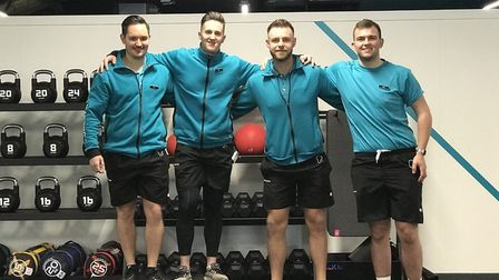 The team headed up by Jason Ives, pictured far left, at PureGym in Norwich's Castle Quarter, Aylsham