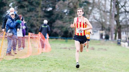 Ben Spratling took second at the Norfolk Cross Country Championships. Picture: Mark Hewlett