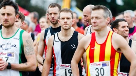 Action from the Norfolk Cross Country Championships. Picture: Mark Hewlett