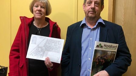 Sandra Lombard, left, and Graham Johnson live on Green Lane and are objecting to the development. Ph