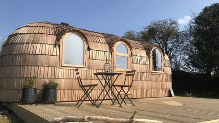 The accommodation is about as glamorous as glamping gets