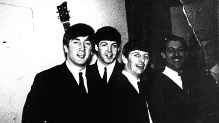John Lennon, left with other members of The Beatles at the Grosvenor Rooms in Norwich in 1963