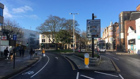The revamped area of Rose Lane and Prince of Wales Road in Norwich which needs a quirky statue rathe
