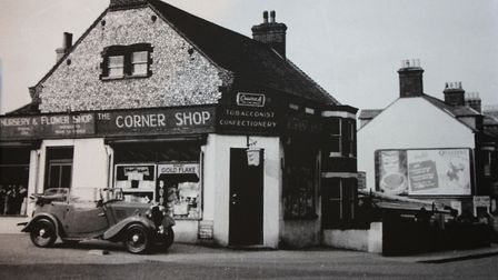 Sheringham shop Whistlestop in the 1950s, when it was a tobacconist and confectioners. Photo: JOHN F