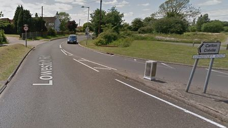 A man is alleged to have exposed himself to a woman near to Lowestoft Road in Carlton Colville. Pict
