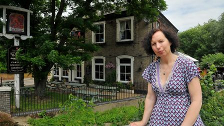 Amanda Rose, landlady of the Red Lion which is closing at the end of January. Photo : Steve Adams