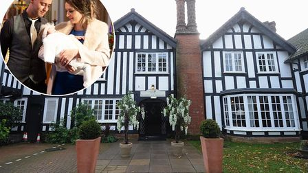Laura Black and Catalin Birladeanu have lost 1,000 following the closure of Lenwade House Hotel. Pic