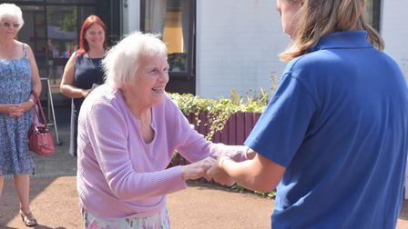 Munhaven Care Home in Mundesley celebrating an outstanding rating by CQC with a party. Picture: Sony