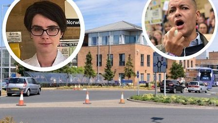 Clive Lewis and Chloe Smith both want more money for the Norfolk and Norwich University Hospital. Pi