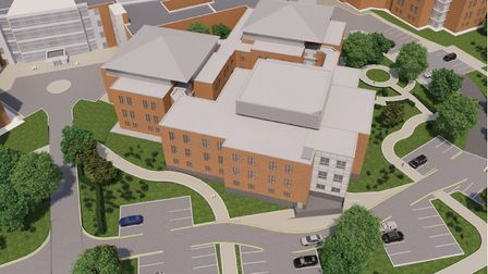 How the new 70-bed ward block at the NNUH should look when it opens in March. Photo: NNUH
