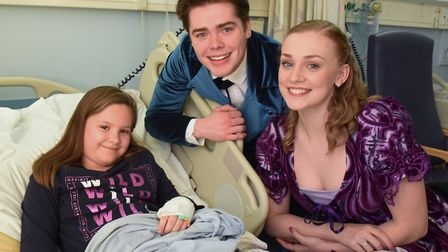 Carmen Curtis from Cromer, celebrated her 12th birthday a day early when she met Victoria Gardner an