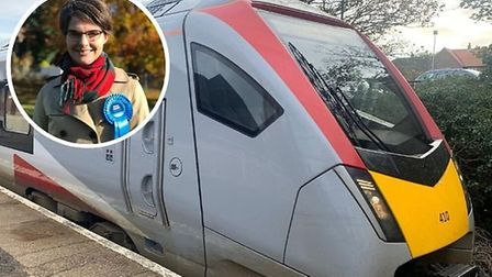 Chloe Smith, (inset), Conservative MP for Norwich North is to meet Greater Anglia bosses. Photo: Stu