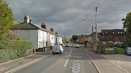 A section of London Road, Dereham, where a group of men were threatened with a knife. Picture: GOOGL