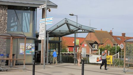 Sheringham's Tesco store, where it has been claimed local teenagers have been causing problems by co
