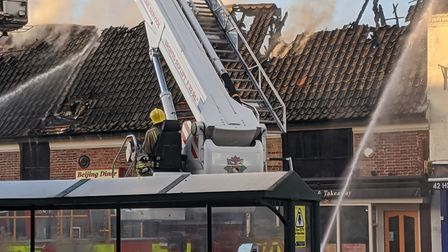 The fire broke out in Beijing Dinner on Watton High Street. Picture: Marc Betts