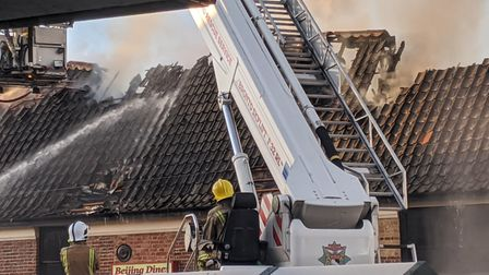 The fire broke out at around 2.37pm on February 6 on Watton High Street. Picture: Marc Betts