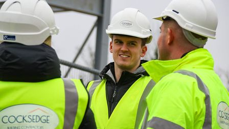 Byram was given a tour of the existing facilities at The Nest before being shown the early stages of