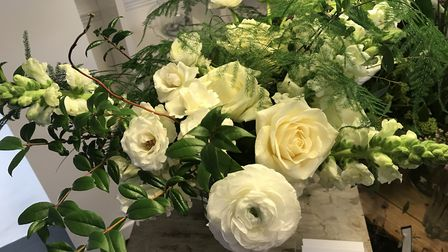 Some of the flowers on display in the Niche Flowers pop-up shop in Hairsmiths salon on Timberhill in