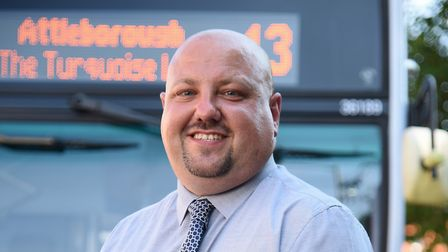 First Norwich buses general manager Chris Speed. First buses are making improvements to their servic