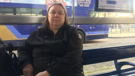 Carol Evans, 61, from Southtown in Great Yarmouth, take the bus every day. Picture: Daniel Hickey.