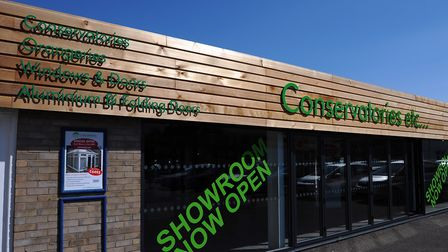 The former showroom of Conservatories Etc in Diss. Photograph Simon Parker