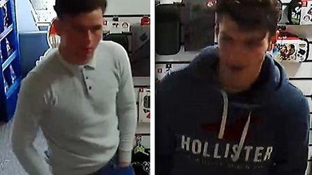 Police have released CCTV images of two men they would like to speak to in connection with the use o
