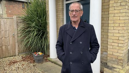 Peter Britton outside his property on Goodwins Road. . Picture: Sarah Hussain