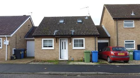 Yaxley Way, a two bedroom bungalow for sale for £120,000. Pic: Zoopla