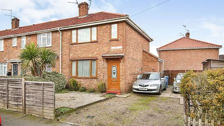 Hunter Road, a three bedroom semi, for sale for £180,000. Pic: Zoopla.