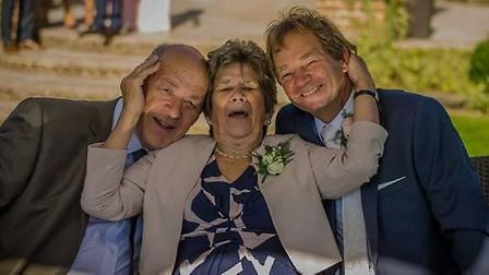 Jon Nobbs (L) with his mother Doreen Wakefield and brother Stephen Nobbs. Picture: Jon Nobbs